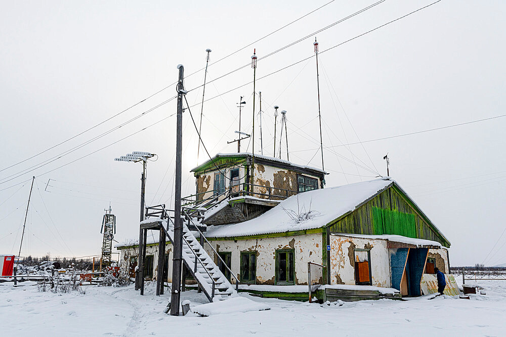 Old airport in Tomtor one of the cold spots on earth, Road of Bones, Sakha Republic, Yakutia, Russia