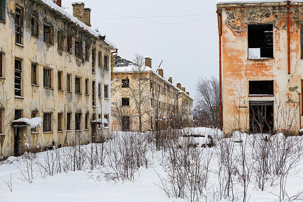 Abandoned mining city Kadykchan, Road of Bones, Magadan Oblast, Russia
