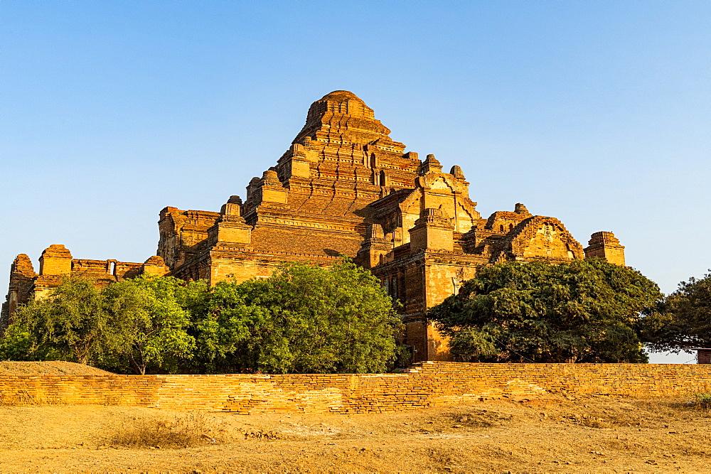 Dhammayan Gyi Temple at sunset, Bagan (Pagan), Myanmar (Burma), Asia