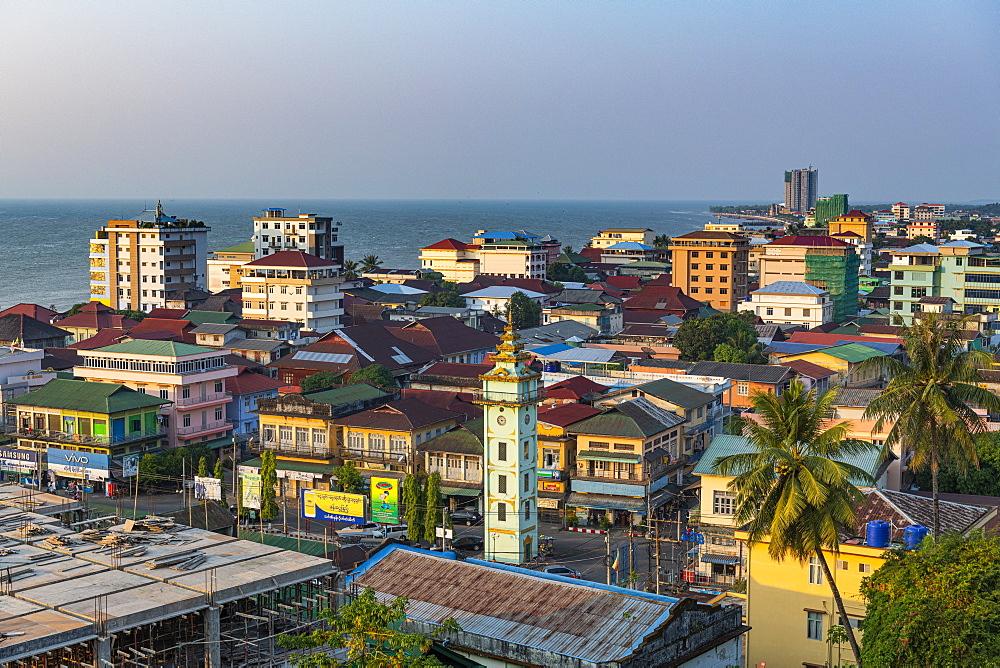 View over Myeik (Mergui), Myanmar (Burma), Asia