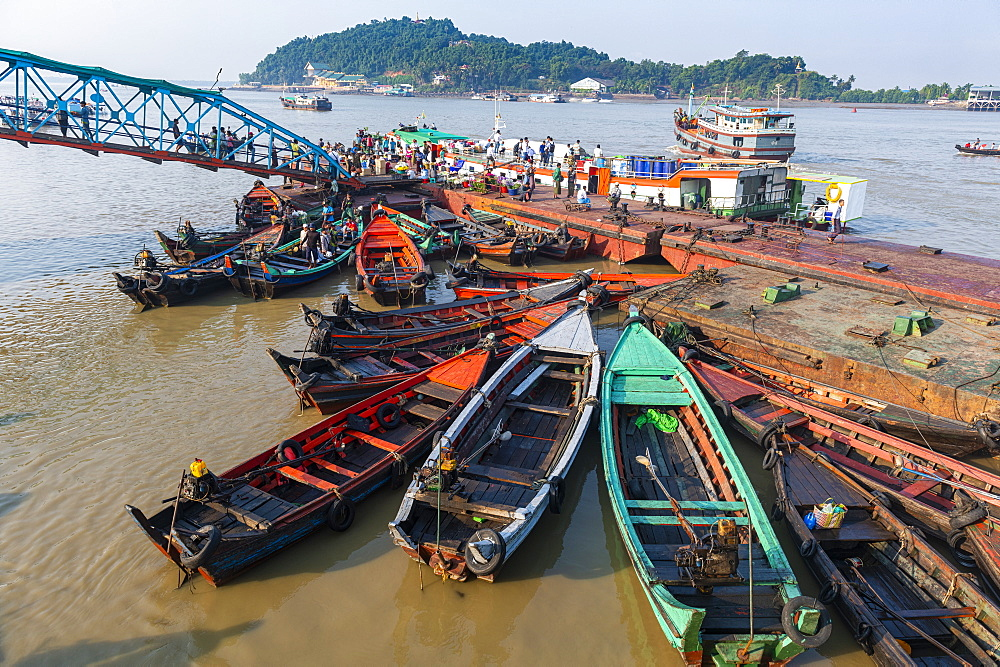 Fishing boats in the harbor of Myeik (Mergui), Myanmar (Burma), Asia