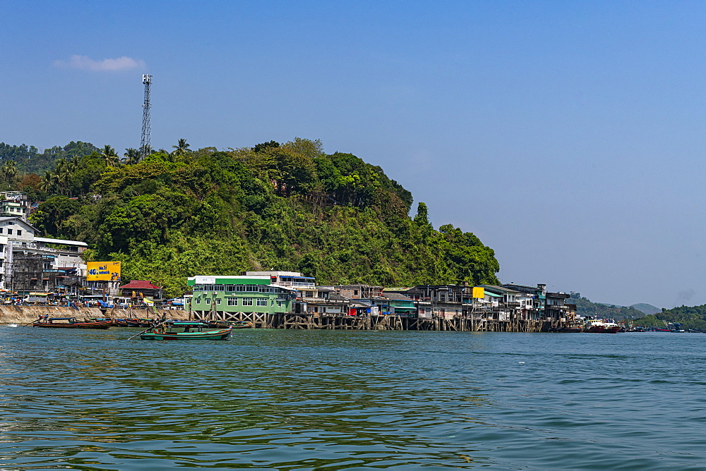 The harbor of Kawthaung, Myanmar (Burma), Asia