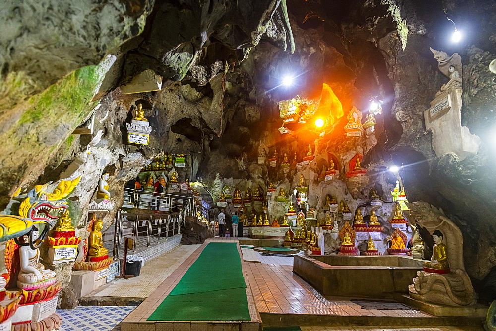 Golden Buddha statues, Pindaya cave, Pindaya, Shan state, Myanmar