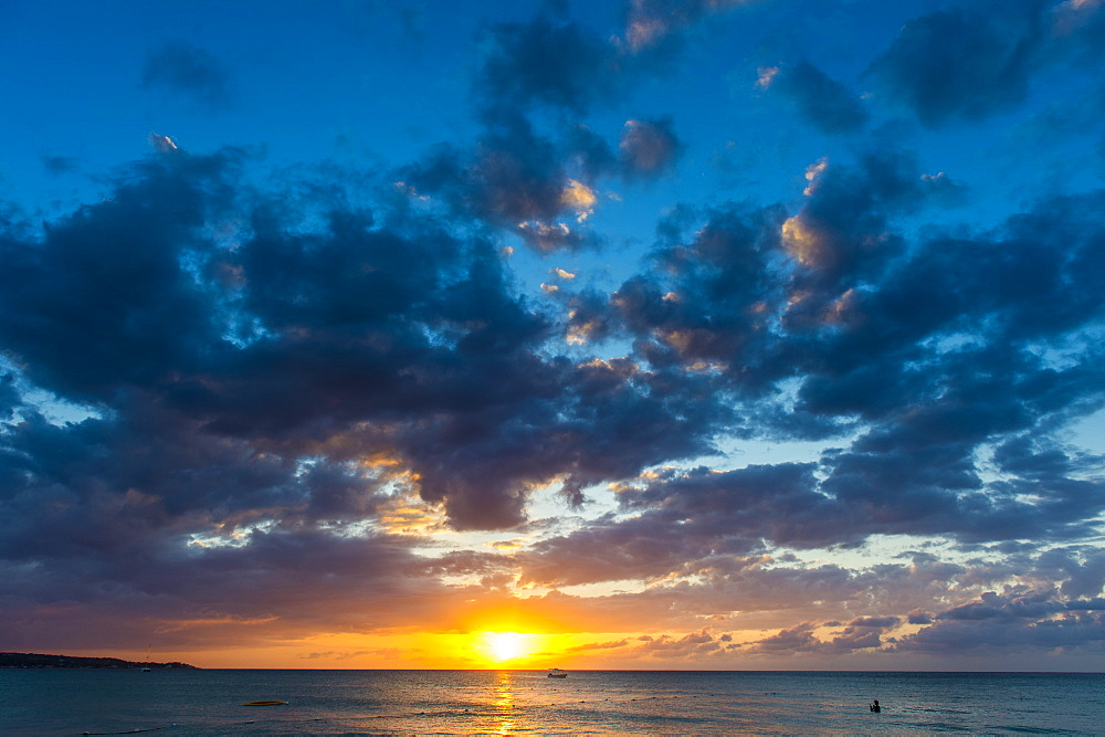 Sunset on Seven Mile Beach, Negril, Jamaica, West Indies, Caribbean, Central America