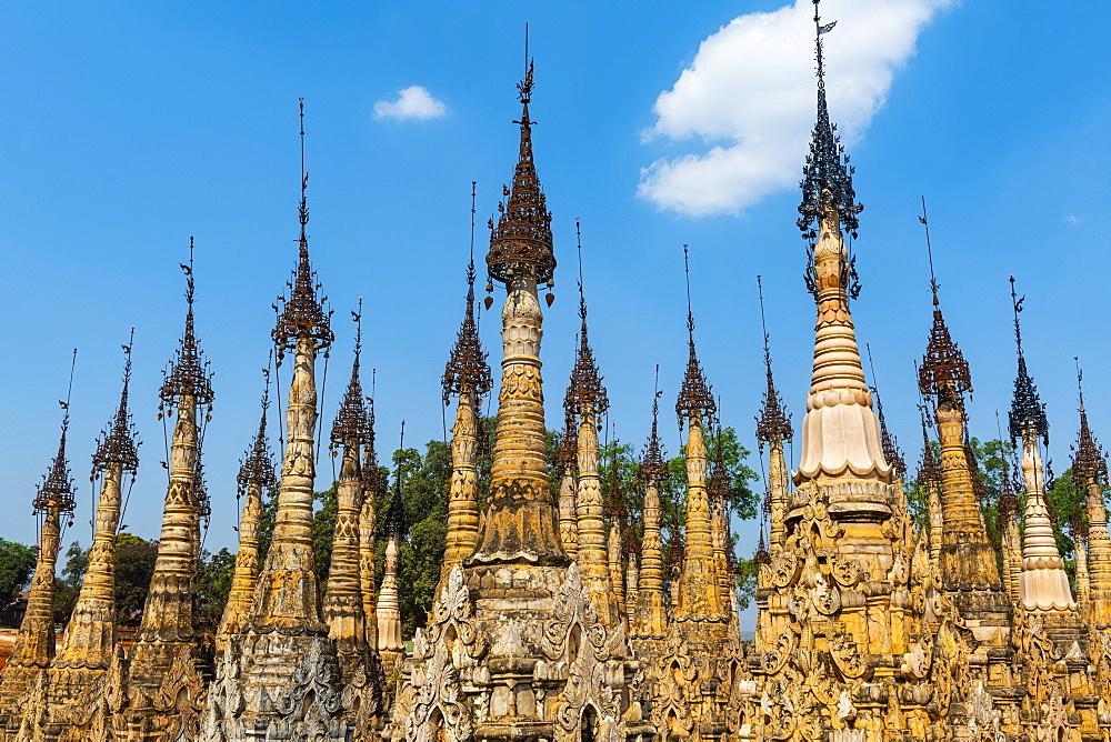 Kakku's Pagoda with its 2500 stupas, Kakku, Shan state, Myanmar (Burma), Asia