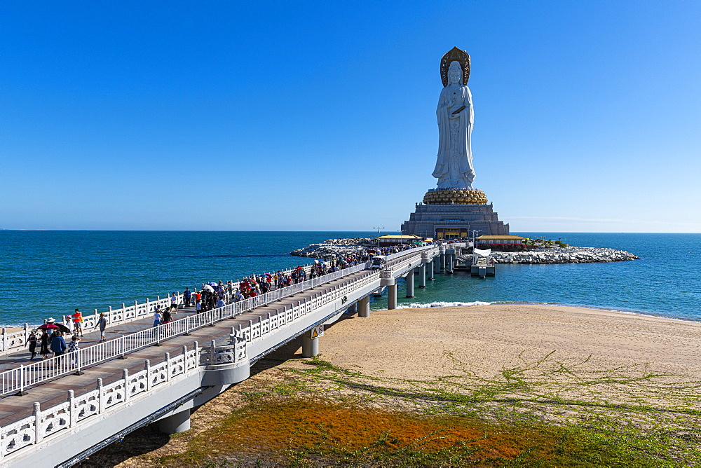Giant buddhist statue in the south chinese ocean, Nanshan Temple, Sanya, Hainan, China
