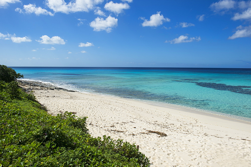 Beautiful white sand beach and turquoise water in Providenciales, Turks and Caicos, Caribbean, Central America