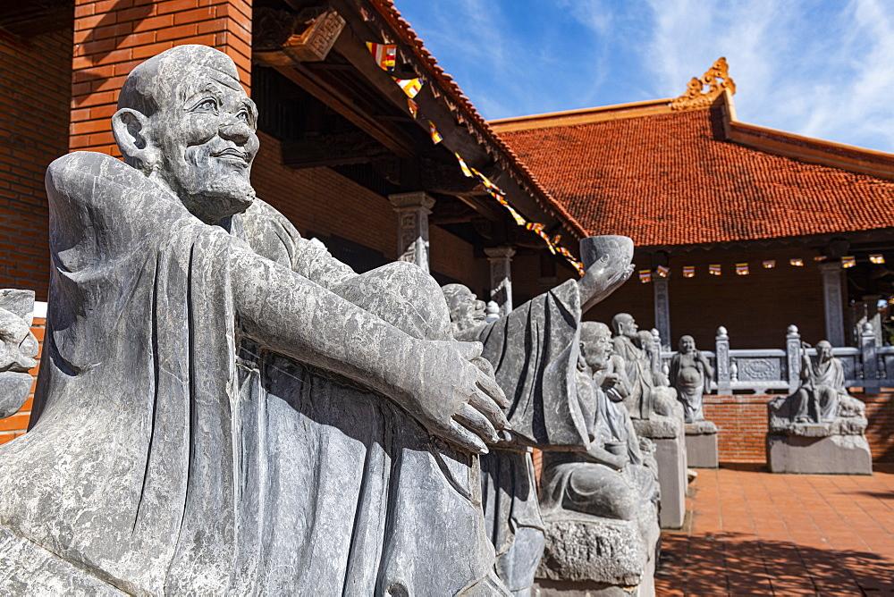 God statue, Ho Quoc Pagoda Buddhist temple, island of Phu Quoc, Vietnam, Indochina, Southeast Asia, Asia