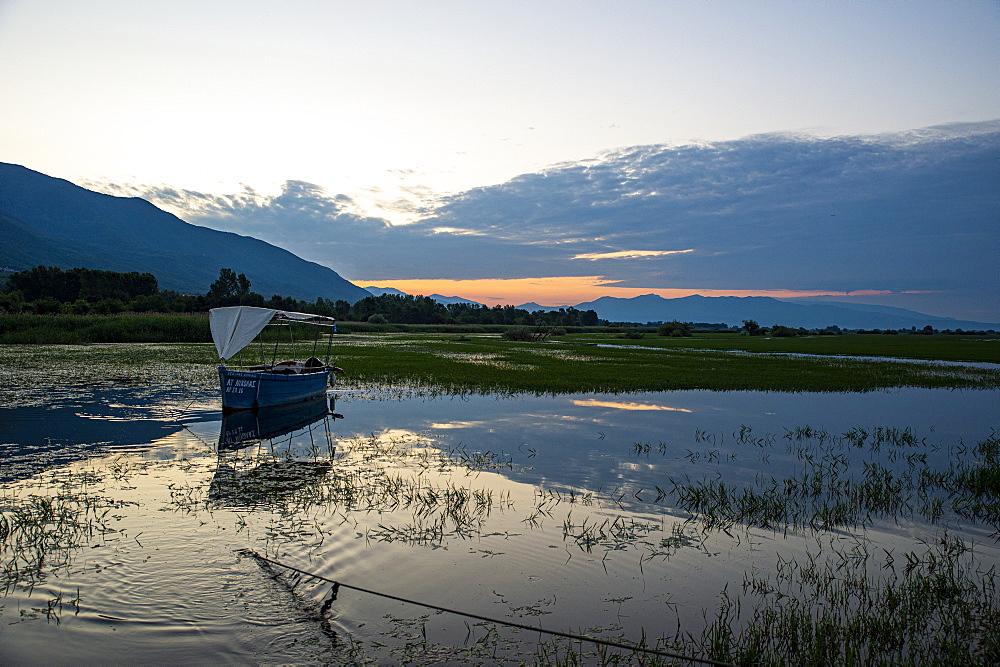 Sunrise over the Lake Kerkini, Macedonia, Greece, Europe - 1184-4419