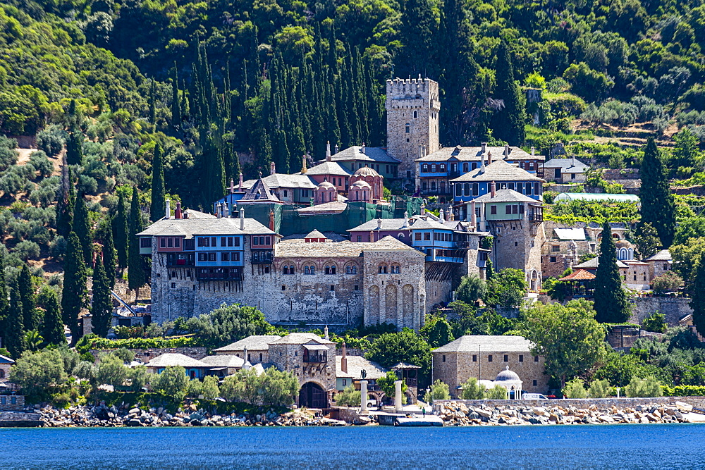 Moni Dochiariou monastery, Unesco world heritage site Mount Athos, Greece - 1184-4452