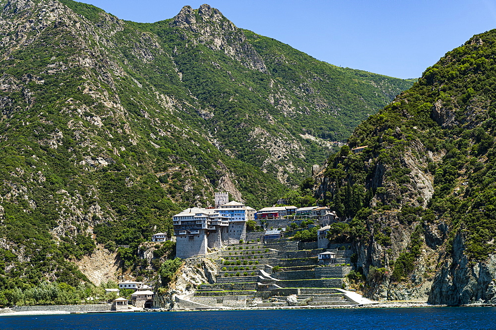 Agiou Pavlou monastery, Unesco world heritage site Mount Athos, Greece - 1184-4453