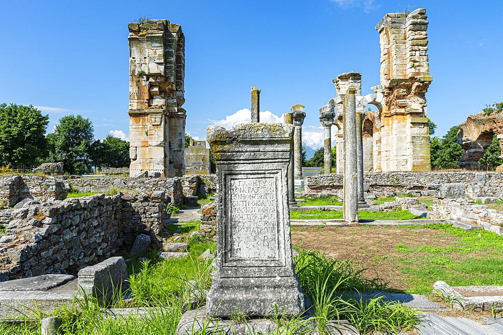 Unesco world heritage site Philippi, Macedonia, Greece