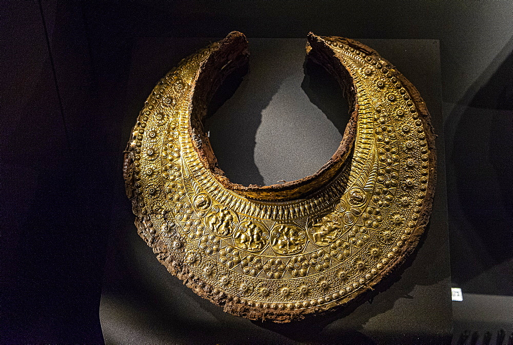 Golden treasuries in the burial mound, Unesco world heritage site Aigai, Vergina, Greece - 1184-4500