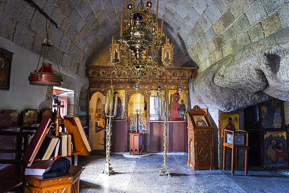 Unesco world heritage site, Cave of The Revelation,Patmos, Greece - 1184-4517