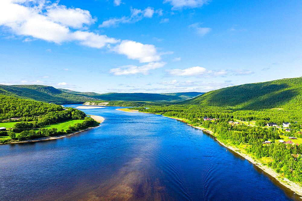 Karasjohka River bordering Norway and Finland, Lapland, Finland, Europe - 1184-4632