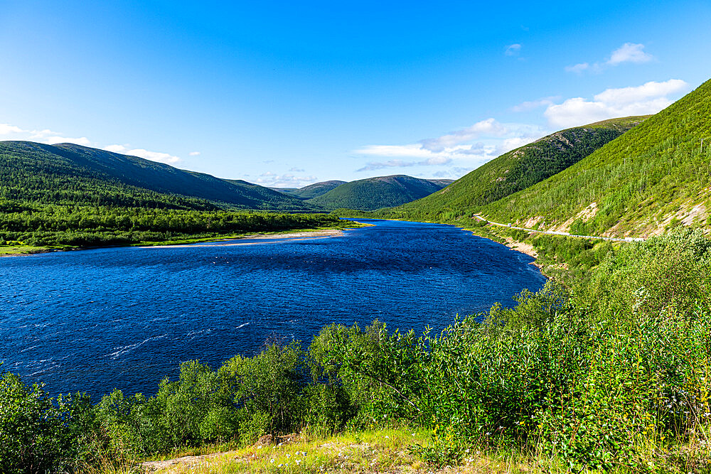 Karasjohka River bordering Norway and Finland, Lapland, Finland, Europe - 1184-4633