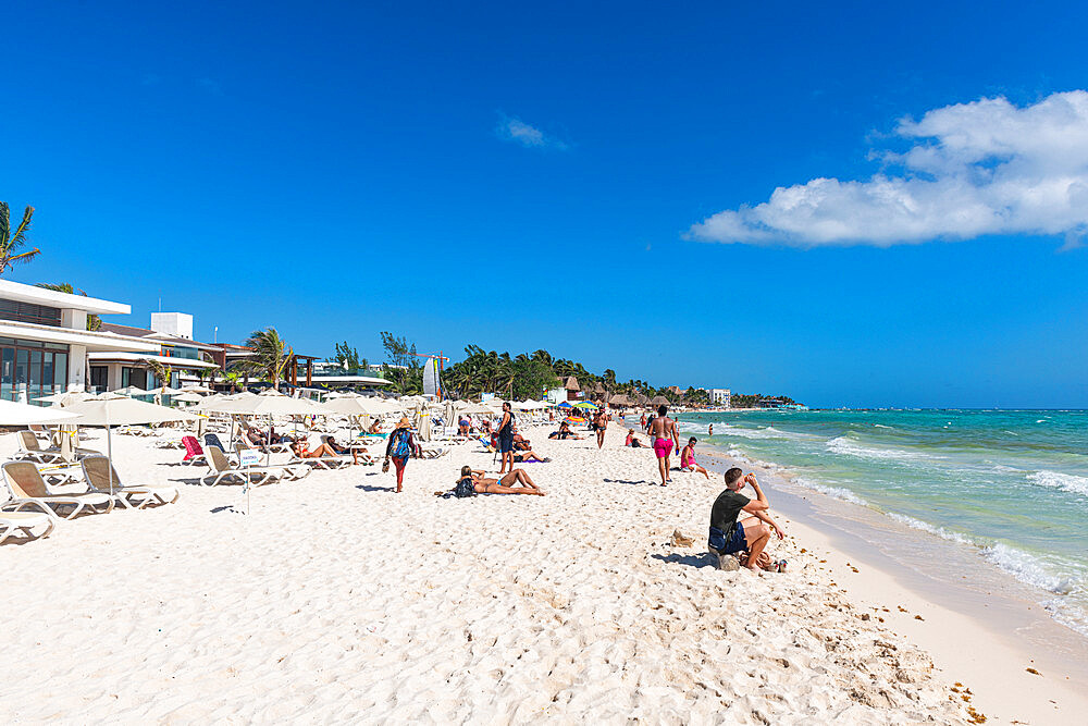 Beach in Playa del Carmen, Quintana Roo, Mexico, North America - 1184-5509