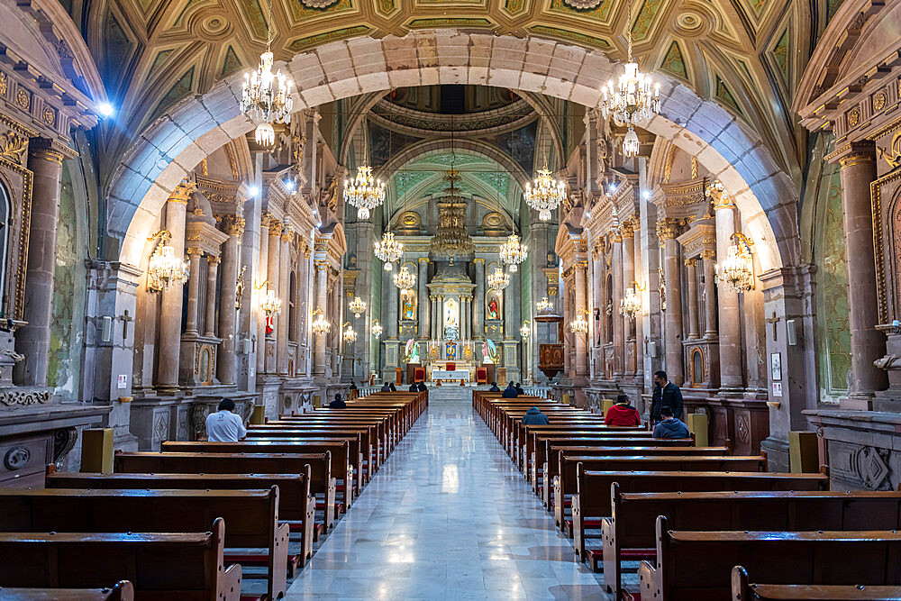 Interior of the Templo de San Francisco, UNESCO World Heritage Site, Queretaro, Mexico, North America - 1184-5510