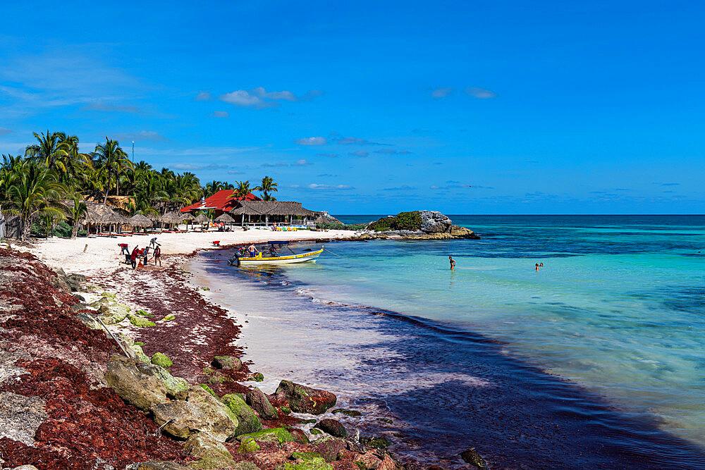 White sand beach in Tulum, Quintana Roo, Mexico, North America - 1184-5543