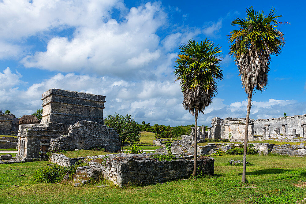 Pre-Columbian Mayan walled city of Tulum, Quintana Roo, Mexico, North America - 1184-5544