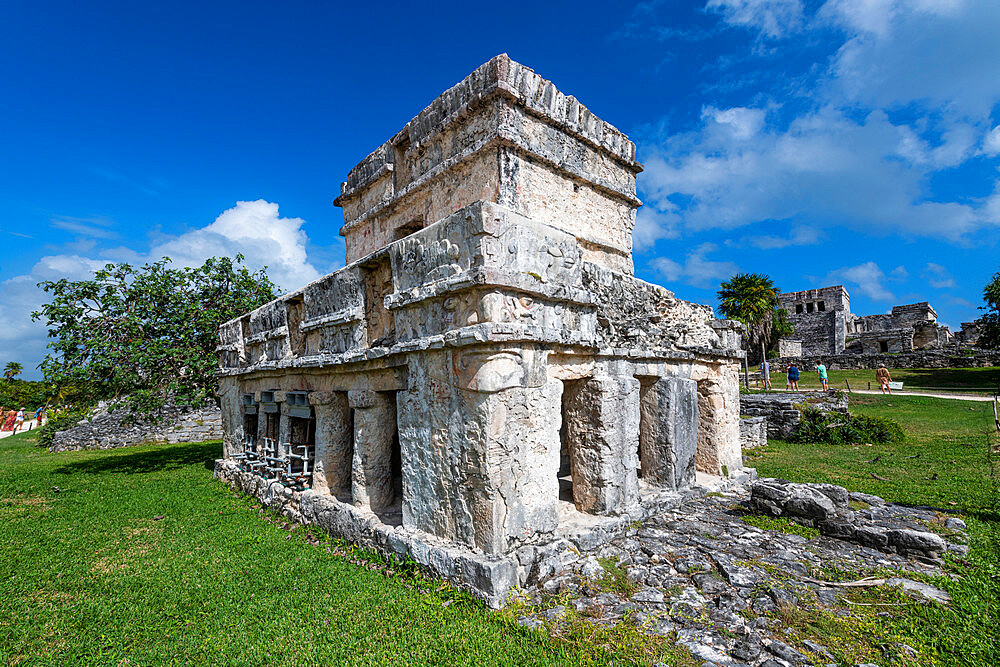 Pre-Columbian Mayan walled city of Tulum, Quintana Roo, Mexico, North America - 1184-5546