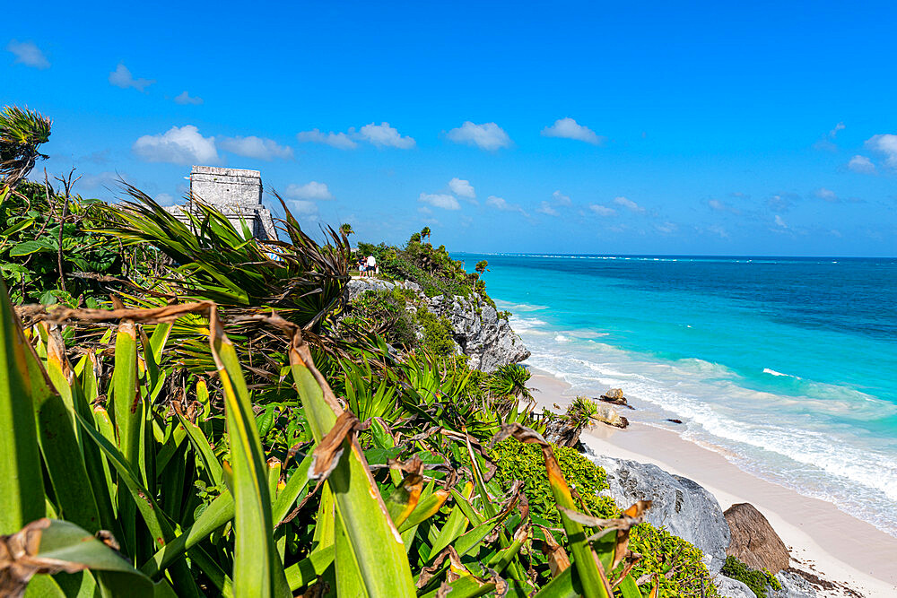 Pre-Columbian Mayan walled city of Tulum, Quintana Roo, Mexico, North America - 1184-5549