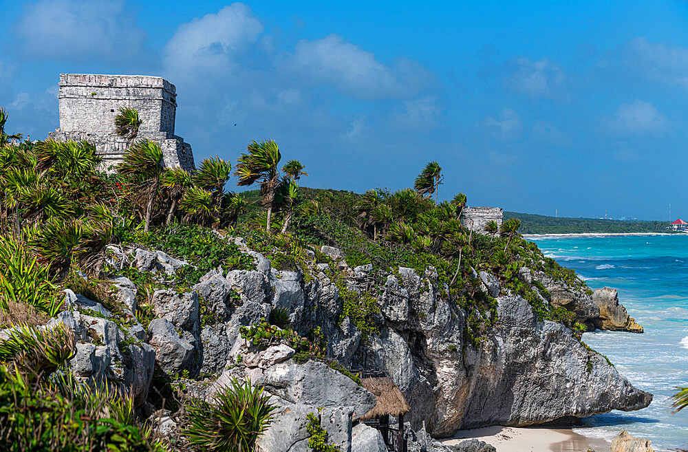 Pre-Columbian Mayan walled city of Tulum, Quintana Roo, Mexico, North America - 1184-5550