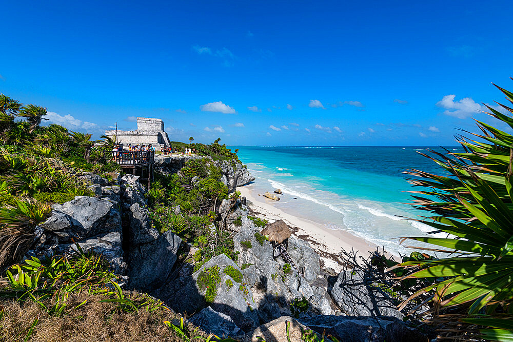 Pre-Columbian Mayan walled city of Tulum, Quintana Roo, Mexico, North America - 1184-5551