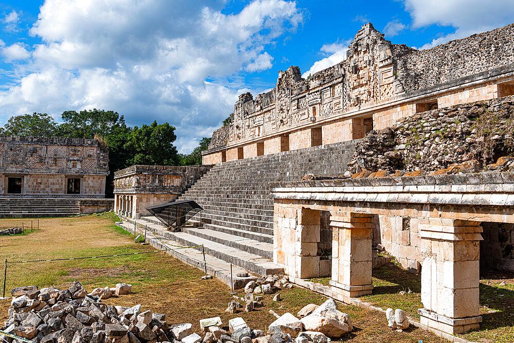 The Maya ruins of Uxmal, UNESCO World Heritage Site, Yucatan, Mexico, North America - 1184-5552
