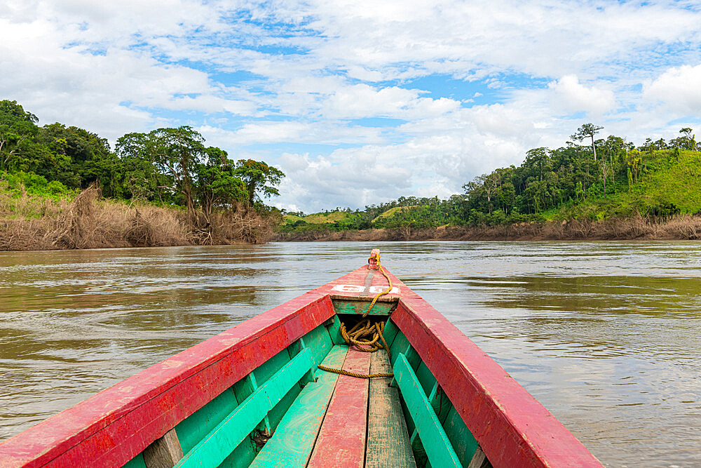 Boat on the Usumacinta River, Chiapas, Mexico, North America - 1184-5566