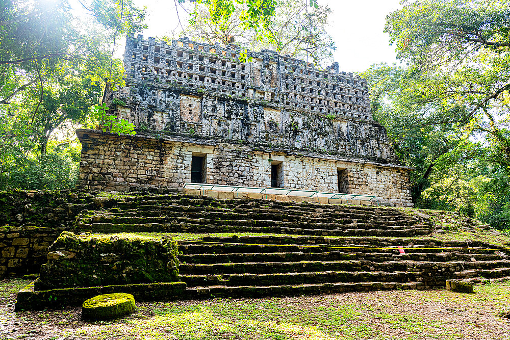 Archaeological Maya site of Yaxchilan in the jungle of Chiapas, Mexico, North America - 1184-5577
