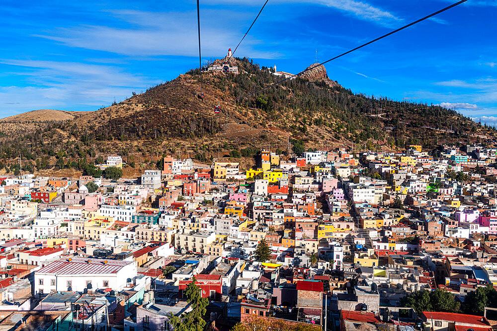 View over the UNESCO World Heritage Site, Zacatecas, Mexico, North America - 1184-5586