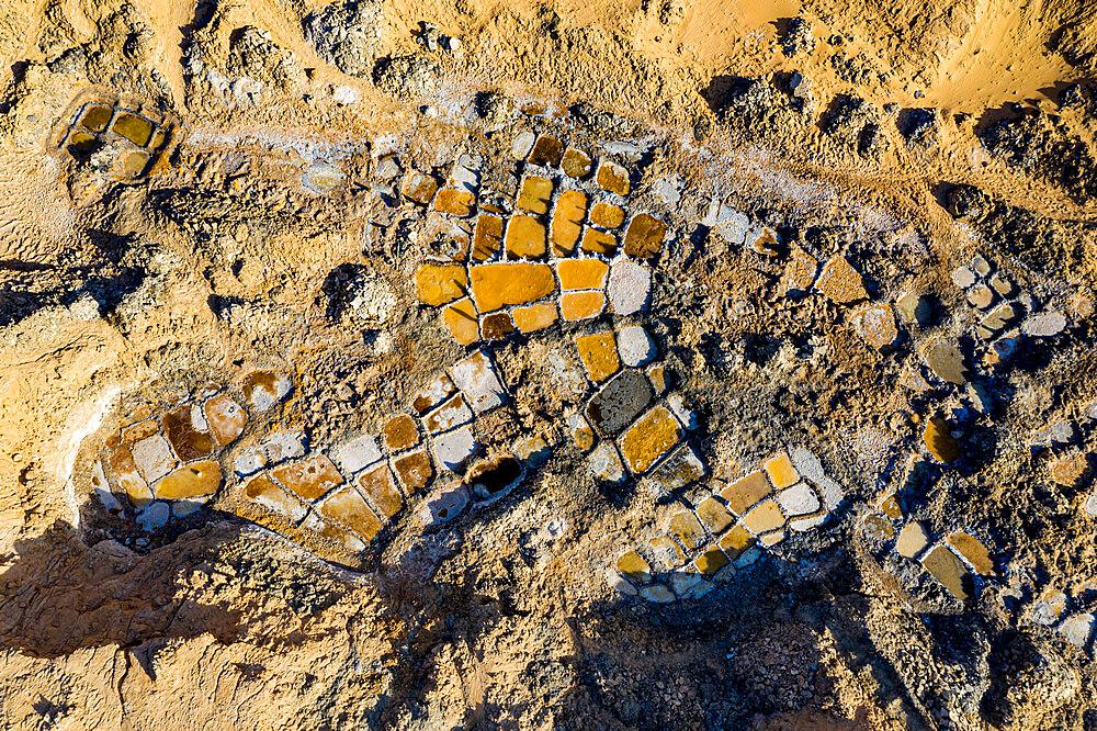 Aerials of the salt mines of Fachi, Tenere desert, Niger, West Africa, Africa - 1184-5599