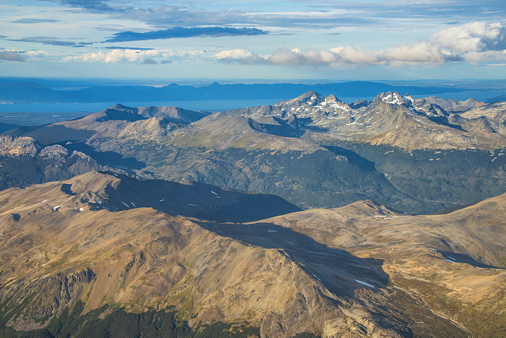Aerial of Tierra del Fuego, Argentina, South America