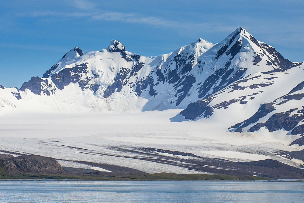Beautiful glacial scenery, Prion Island, South Georgia, Antarctica, Polar Regions