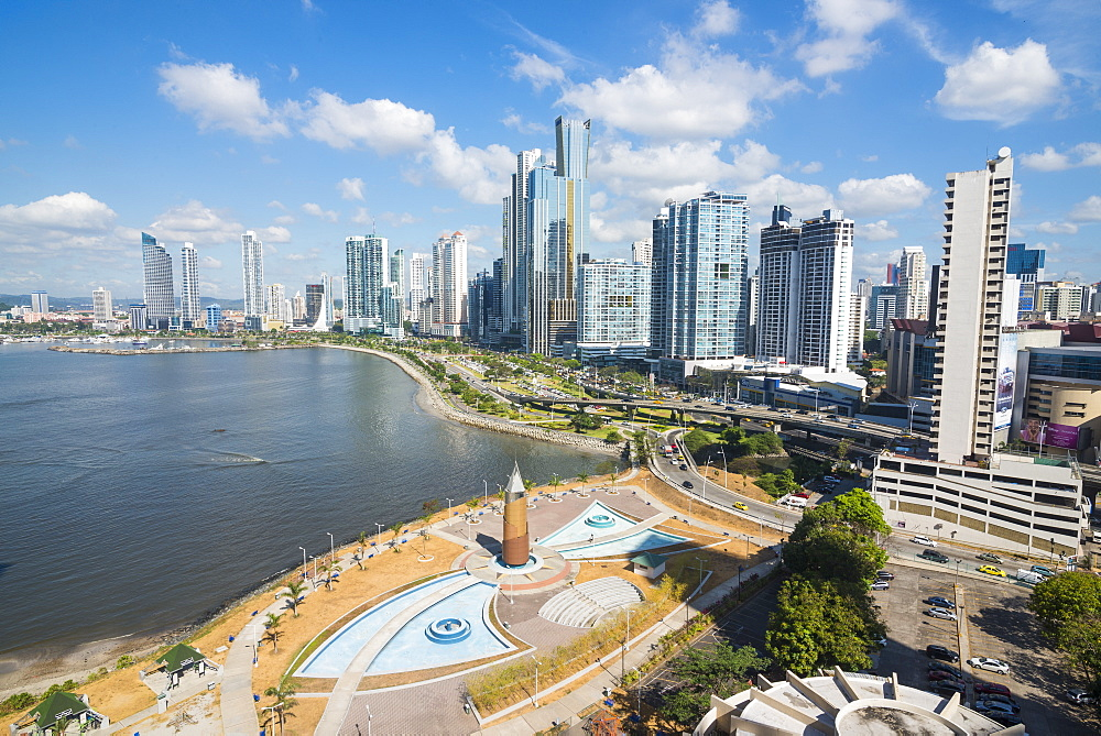 The skyline of Panama City, Panama, Central America