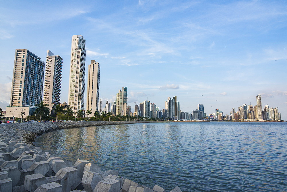 Skyline of Panama City, Panama, Central America