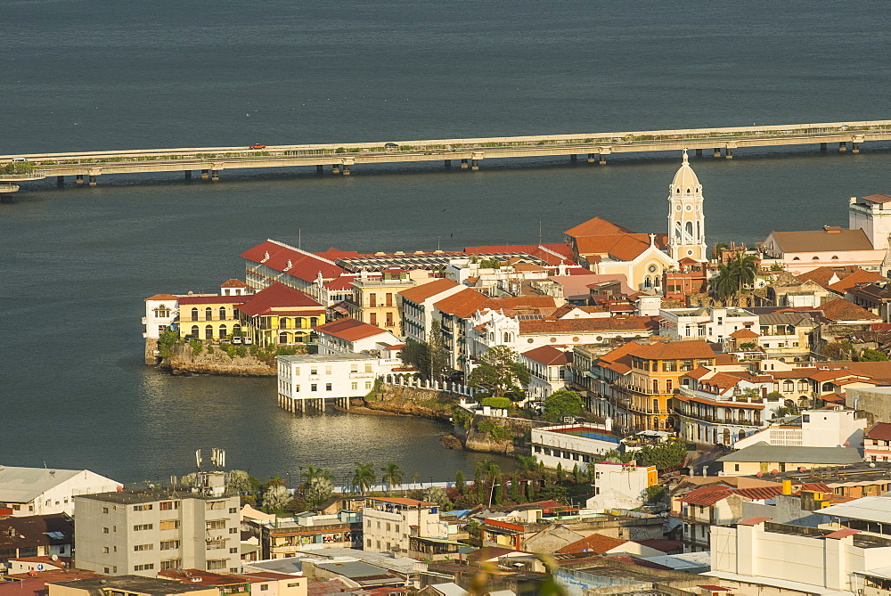 View over Casco Viejo, UNESCO World Heritage Site, Panama City, Panama, Central America