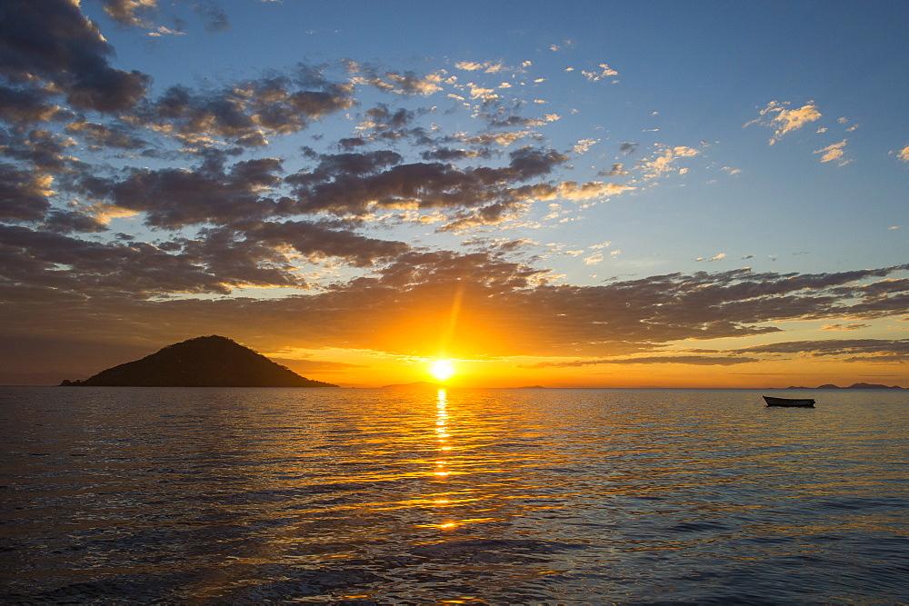 Sunset at Lake Malawi, Cape Maclear, Malawi, Africa