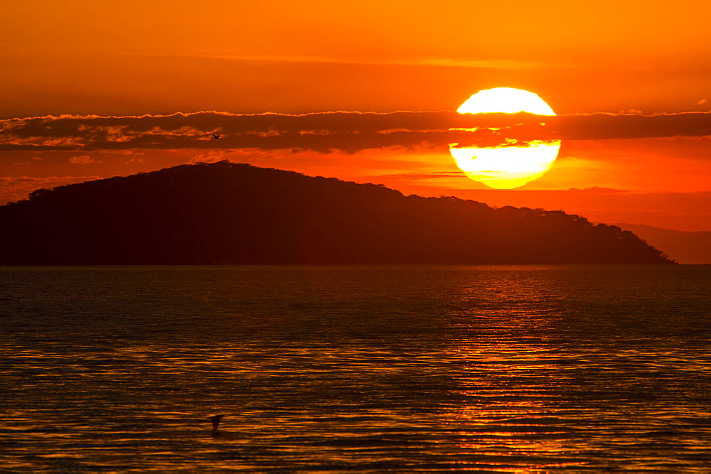 Sunset at Cape Maclear, Lake Malawi, UNESCO World Heritage Site, Malawi, Africa