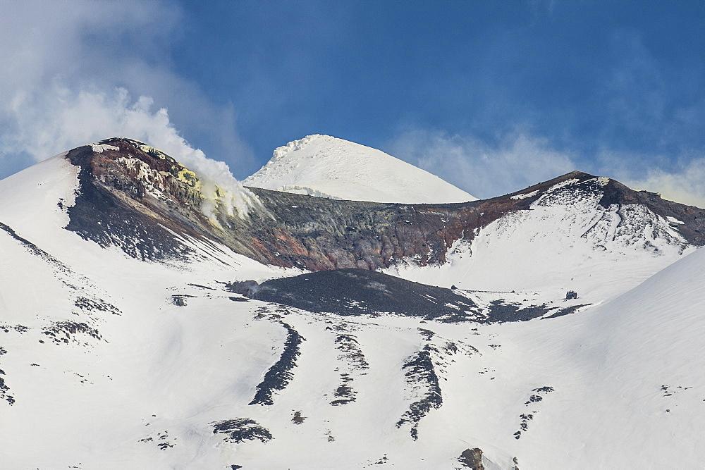 Snow capped mountains in the Unesco world heritage sight Daisetsuzan National Park, Hokkaido, Japan