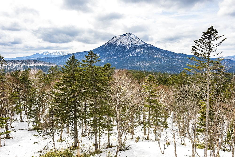 Beautiful landscape of the Akan National Park, Hokkaido, Japan, Asia