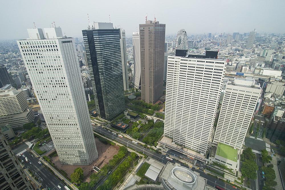 View over Tokyo from the town hall, Shinjuku, Tokyo, Japan