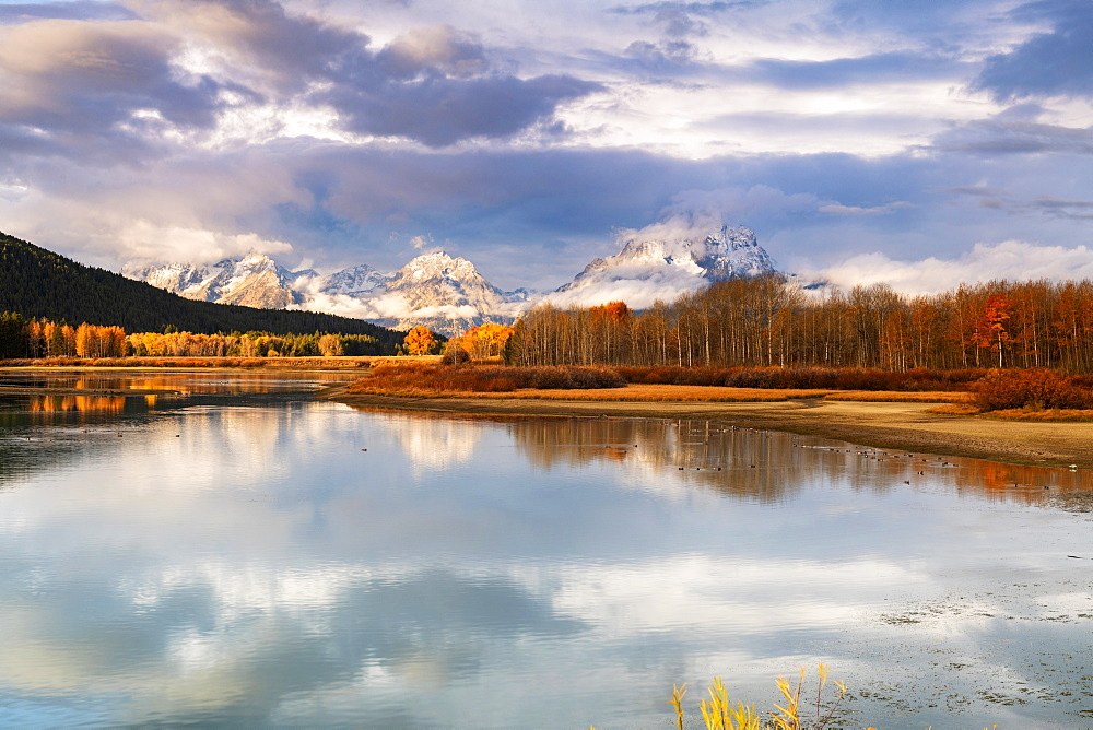Oxbow Bend, Teton Range, Grand Teton National Park, Wyoming, United States of America, North America