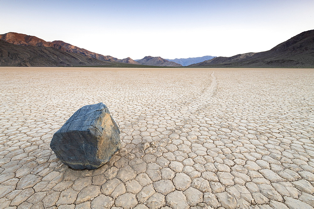 Moving boulders at Racetrack Playa in Death Valley National Park, California, United States of America, North America - 1186-1137
