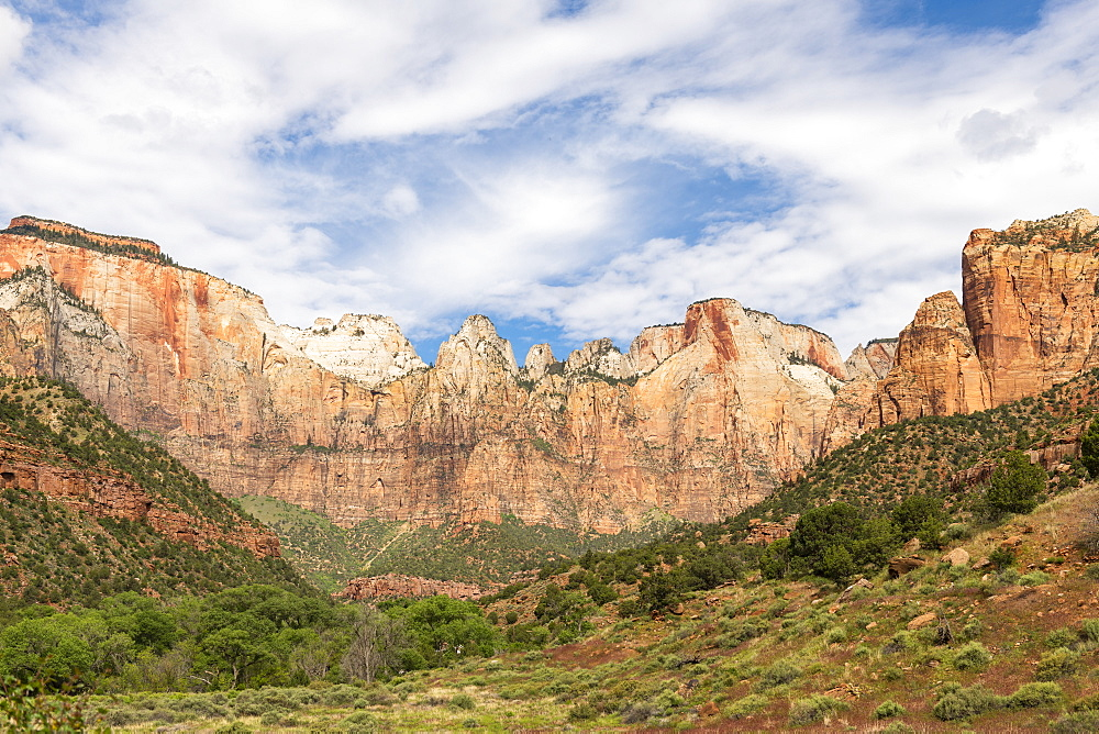 Canyon overlook in Zion National Park, Utah, United States of America, North America