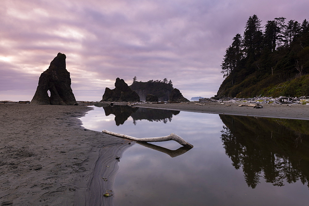 Ruby Beach, Olympic National Park, UNESCO World Heritage Site, Washington State, United States of America, North America