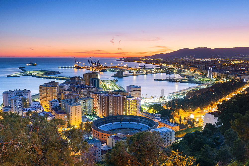 Gibralfaro viewpoint, Malaga, Costa del Sol, Andalusia, Spain, Europe