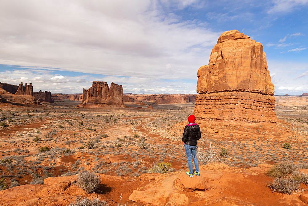 Park Avenue, Arches National Park, Moab, Utah, United States of America, North America