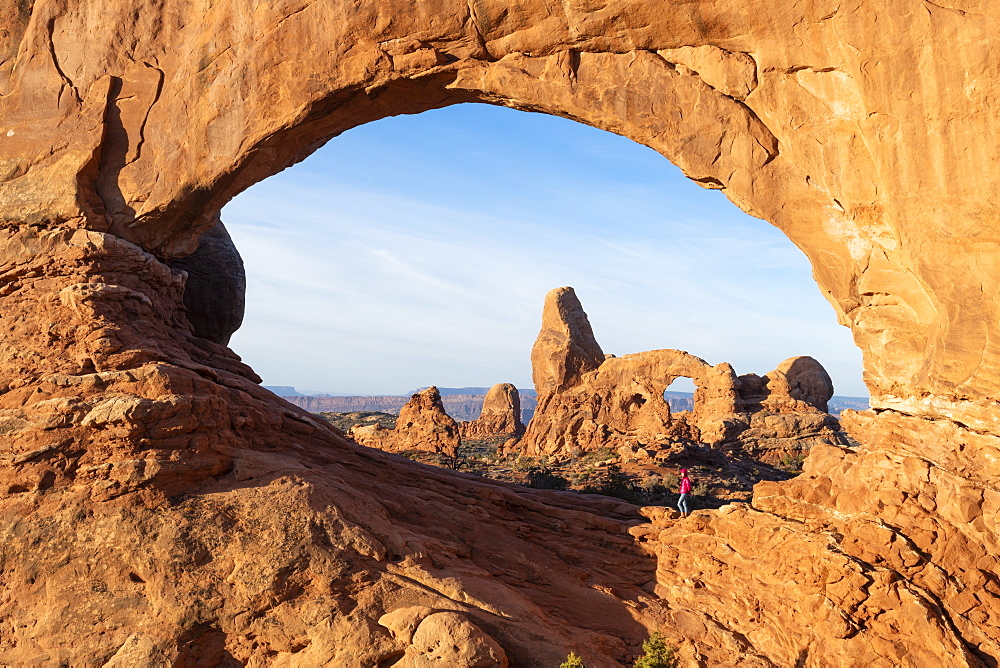 Windows Arches, Arches National Park, Moab, Utah, United States of America, North America - 1186-236